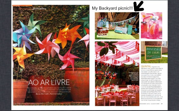 Party Feature in Claudia Magazine Brazil - via BirdsParty.com
