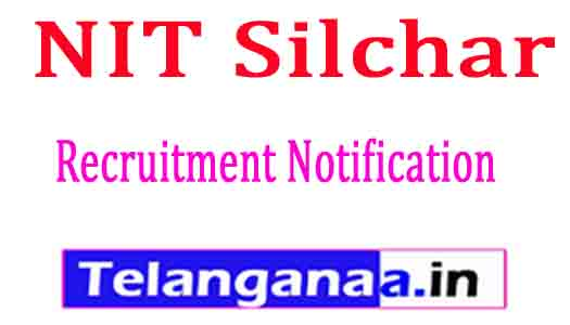 NIT Silchar Recruitment Notification 2017