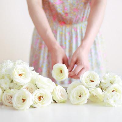 ブーケ手作りキット_ウェディングブーケと花髪飾りairaka