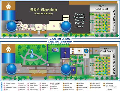 site map skyworld taman mini jakarta