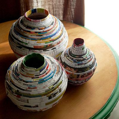 Ide Kerajinan Tangan Dari Kertas Bekas Unik dan Antik