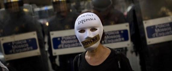 Μαζικές διαδηλώσεις στην Ισπανία κατά του νόμου «φίμωτρο»