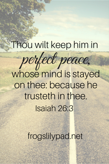 Peace of Mind Isaiah 26:3