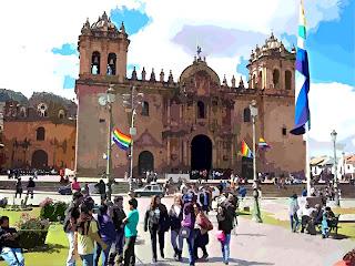 Catedral de Cusco Vista da Plaza das Armas