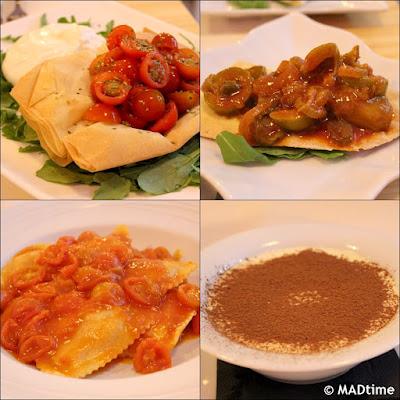 Platos del restaurante italiano Tu Pasta en Madrid