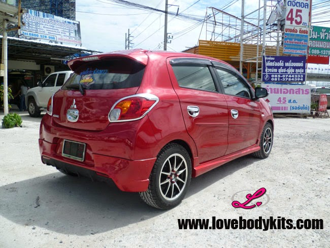 Body Kit Evo Sport - Mitsubishi Mirage samping belakang