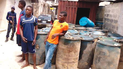 FUEL SCARCITY! 76 PIPELINE VANDALS ARRESTED AND READY TO BE PROSECUTED... CHECK WHERE AND HOW IT HAPPENED