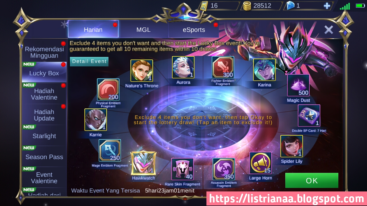 Tutorial Mendapatkan Skin Epic Limited Karrie Hawkwatch Mobile Legends, Gratis ? 5