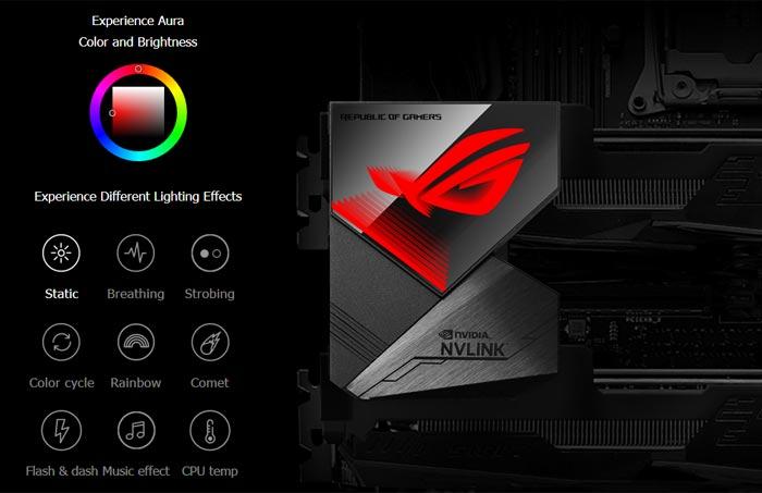 Asus ROG rilis GeForce RTX NVLink dengan Aura Sync RGB