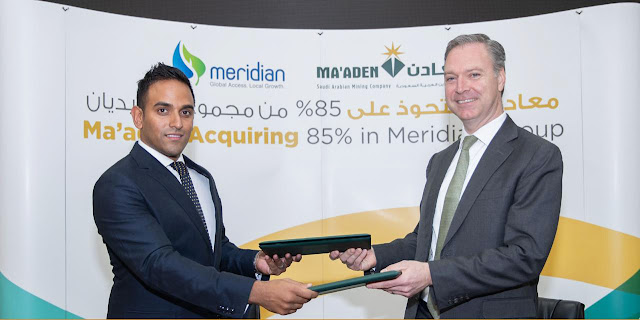 Maaden officially announces acquisition of 85percent of Meridian Fertilizers Group in Africa