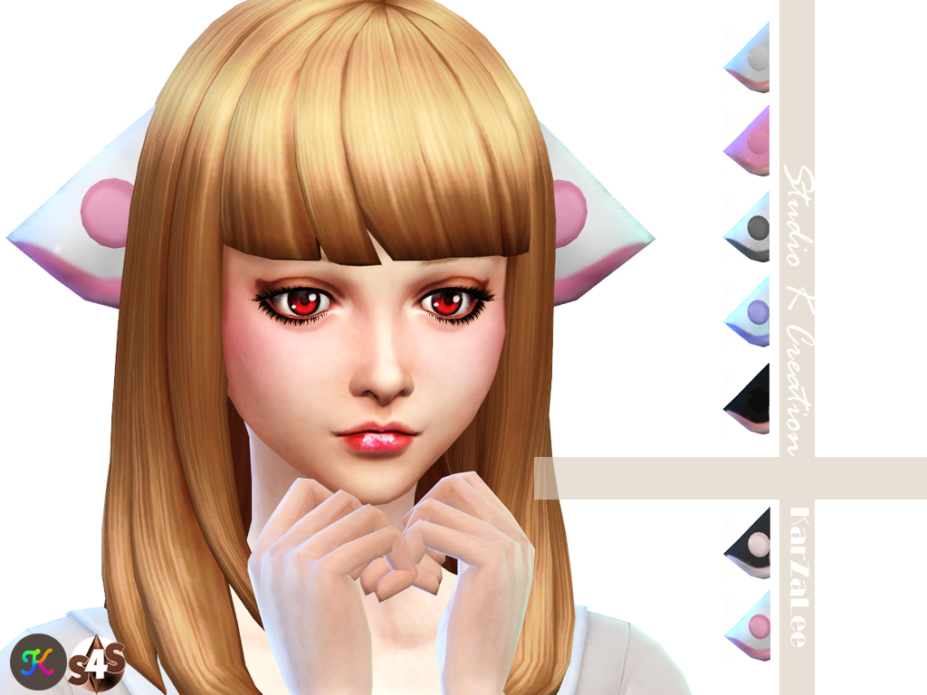 Sims 4 Anime Characters : My sims chobits hair and ears by karzalee