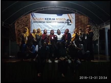 GEBYAR TAHUN BARU DAN PEMBUKAAN KKN MANDIRI 2018/2019 DI DESA PETTONG