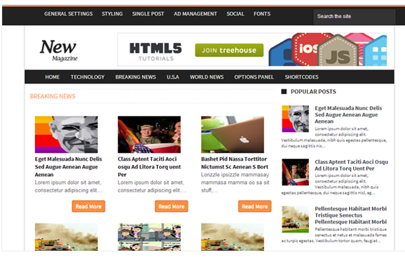News responsive blogger template