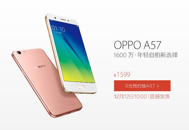 Oppo A57 resmi rilis, dibekali chip Snapdragon 435 dan kamera depan 13MP
