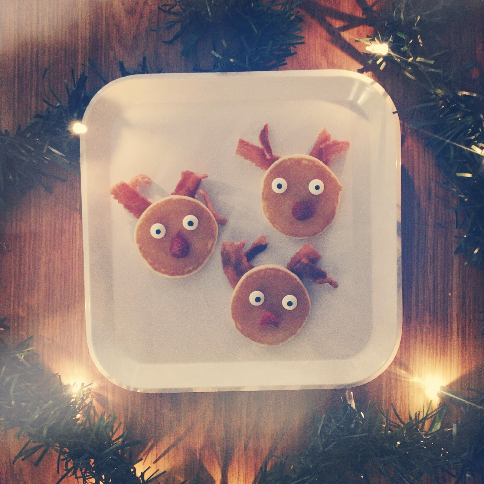 Fun Kid's Christmas Breakfast Ideas - Reindeer Pancakes