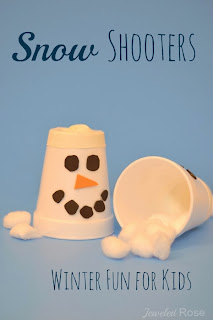 Snow shooters- easy to make toy for kids