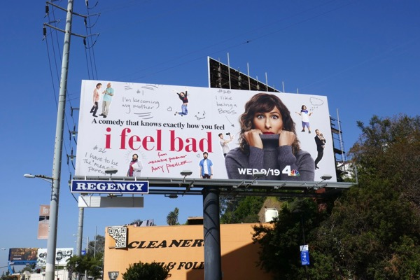 I Feel Bad series launch billboard