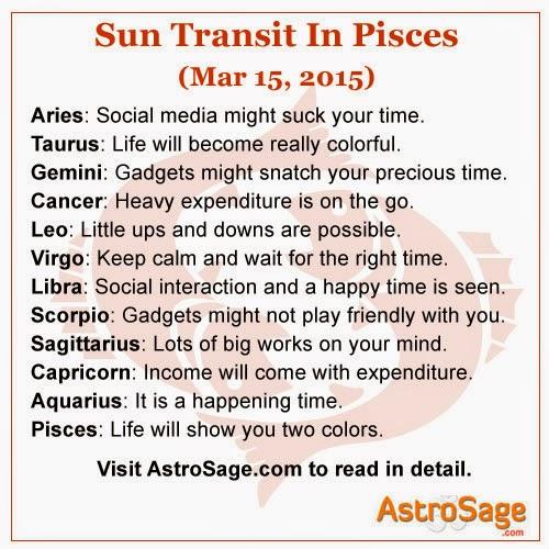 Transit of Sun is Pisces will bring some big changes to your life.
