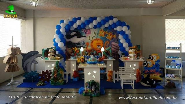 Fundo do mar, decoração, festa de aniversário infantil