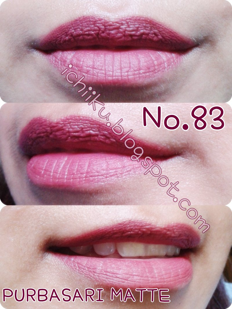 Purbasari Matte Lipstick 83 88 and 89 Review Pejalan Kaki