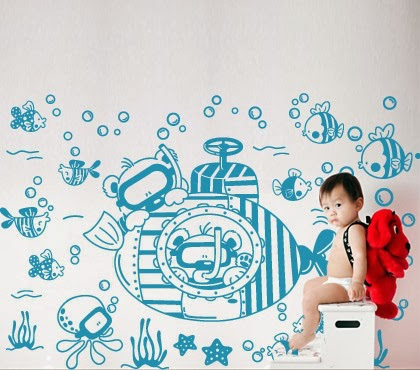 adesivos-decorativos-fundo-do-mar-para-quarto-infantil-decoração-infantil-starfish-sticker-decorative-background-for-bedroom-decor infant and child-estrellas de mar-etiqueta-decorativa-fondo-de-dormitorio-decoración-child-海星貼紙,裝飾,背景為臥室 - 裝飾 - 兒童兒童