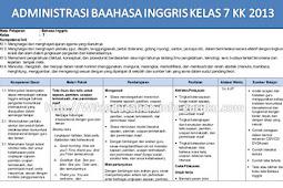PERANGKAT ADMINISTRASI RPP BAHASA INGGRIS KELAS 7 KURIKULUM 2013 REVISI 2017