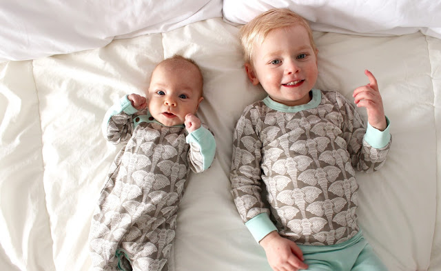 super soft, organic cotton pyjamas from Finn + Emma for you baby and toddler