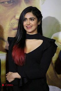 Adah Sharma Stills in Black Short Dress at Commando 2 Trailer Launch