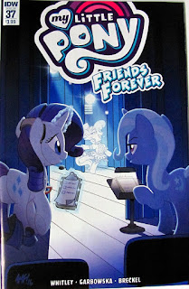 MLP Friends Forever cover #37, showing Rarity and Trixie