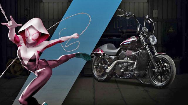 spider gwen Harley Davidson
