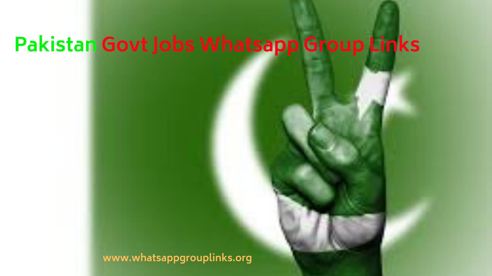 Join Pakistan Govt Jobs Whatsapp Group Links List - Whatsapp Group Links