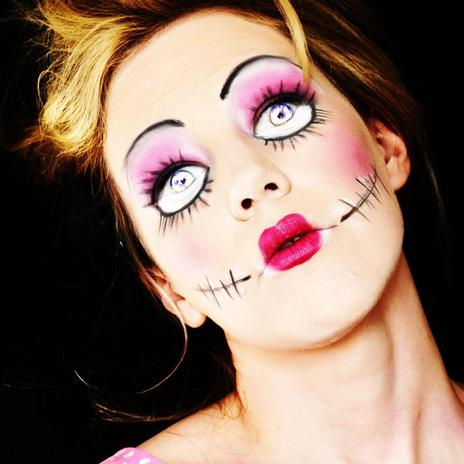 makeup by louisa halloween doll make up. Black Bedroom Furniture Sets. Home Design Ideas