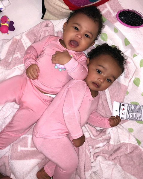 Cute pic of Stormi Webster and Chicago West in matching outfits during sleepover