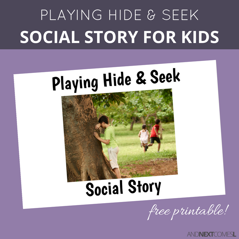 photo regarding Free Printable Social Stories for Preschoolers called No cost Printable Social Tale Relating to Participating in Conceal Look for And