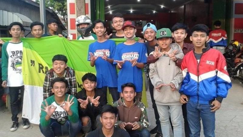 Anggota geng motor Moonraker Cirebon