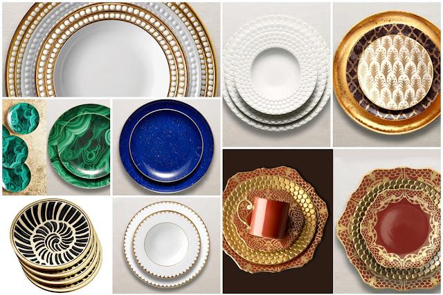 Elegant Chinese Ceramics Dishes OF L'OBJET