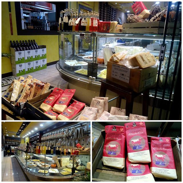 Gourmet delicatessen Parma, Italy