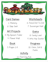Year Long Articulation Therapy Bundle Monthly List Example