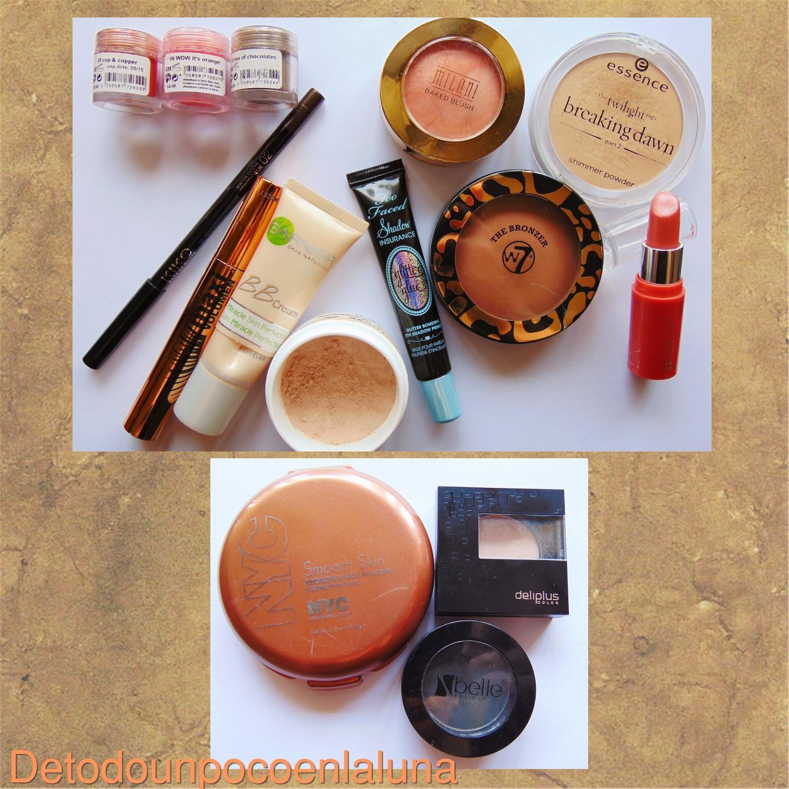 Productos utilizados Look en tonos anaranjados con pigmentos