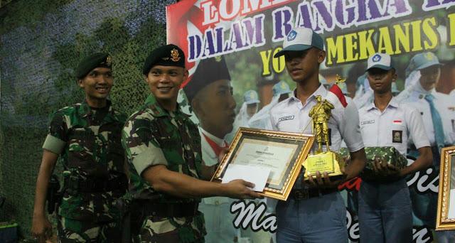 Kostrad Gelar Lomba PBB di Solo Raya, SMK N 2 Karanganyar Juara 1