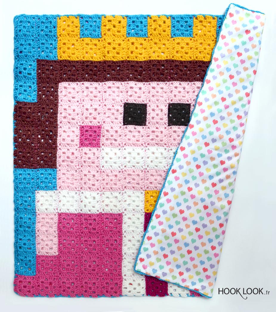 doubler les couvertures hooklook m li m lo d 39 id es en laine et au crochet. Black Bedroom Furniture Sets. Home Design Ideas
