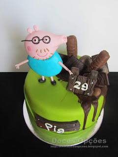 bolo aniversário pai pig