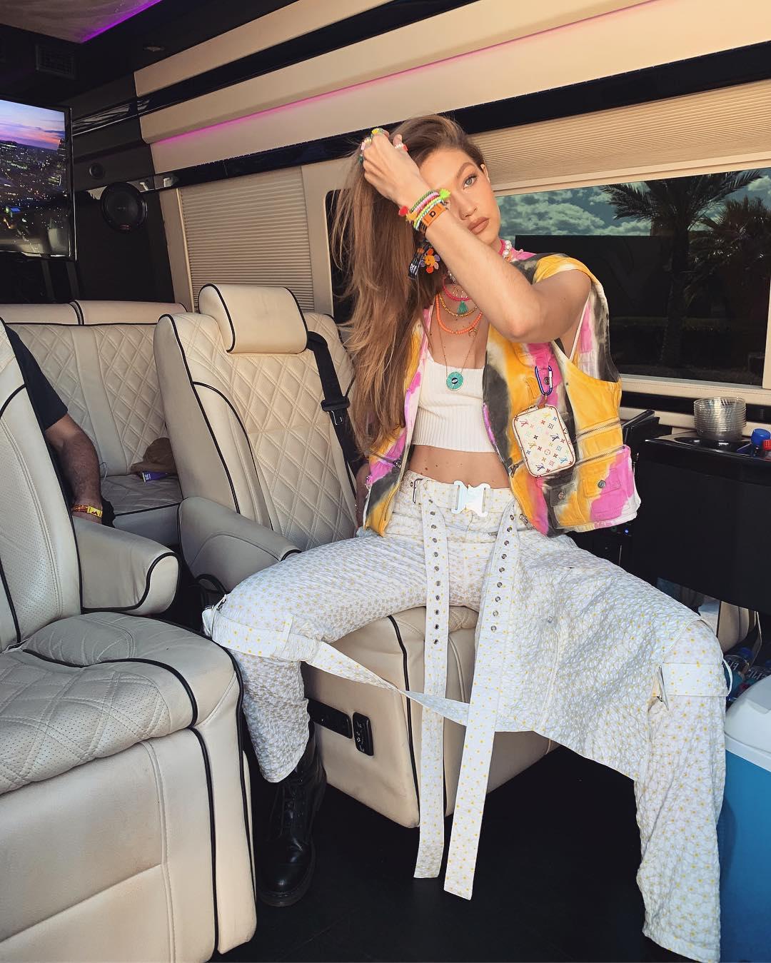 Gigi Hadid is 70s psychedelic for Coachella