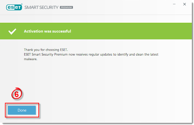Activate my ESET Windows home product using my Username, Password, or License Key
