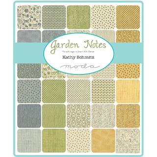 Moda Garden Notes Fabric by Kathy Schmitz for Moda Fabrics