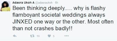 Tiwa Savage & TeeBillz Saga: Flamboyant Weddings Usually Lead To Crumbled Marriages?