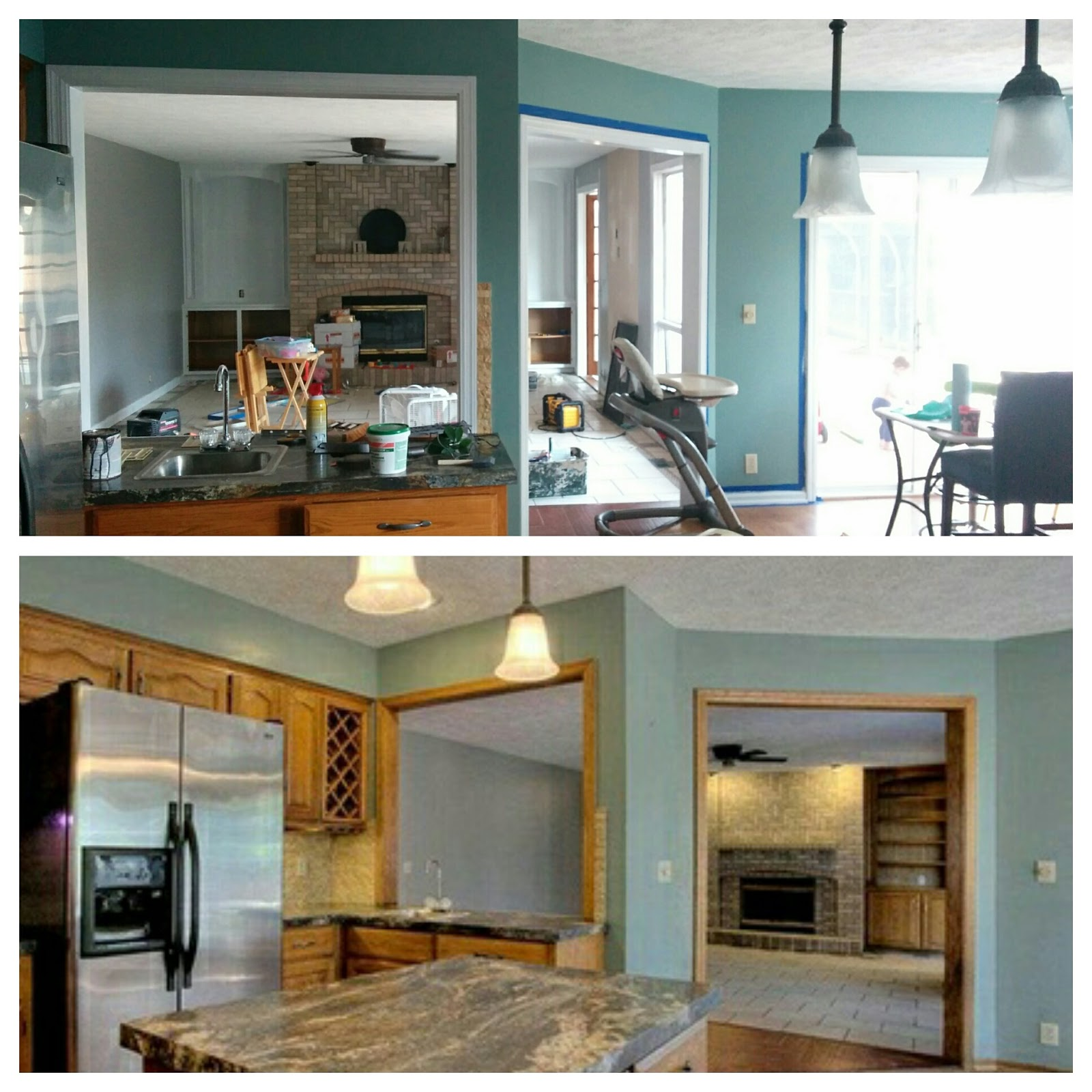 Painting Wood Trim White Before And After: You Are My Licorice: Painting The Trim