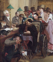 'Dividend Day at the Bank of England' (cropped) by George Elgar Hicks (1824-1914), Bank of England Museum © The Governor and Company of the Bank of England.