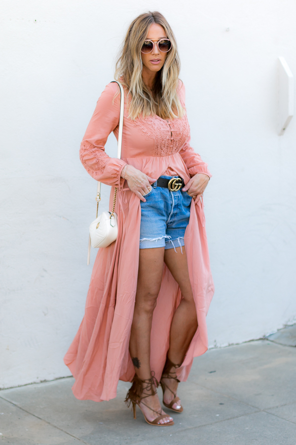 summer maxi dress style fringe heels