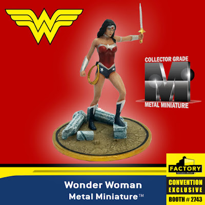 San Diego Comic-Con 2019 Exclusive Justice League New 52 Wonder Woman Metal Miniature by Factory Entertainment x DC Comics